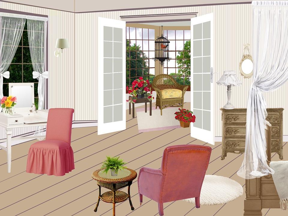 izba, obývačka, dvere