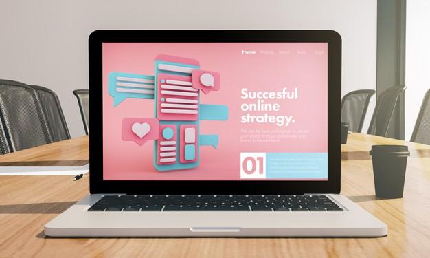 online-strategy-laptop-mockup-conference-room-3d-rendering_72104-3669