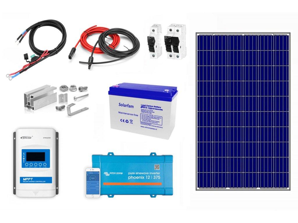 solárny systém s meničom napätia